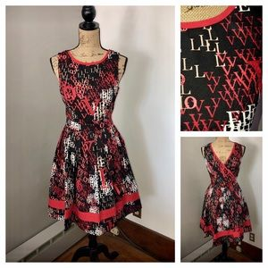 """LOVE""❤️ Jessica Simpson BLACK & RED LARGE L DRESS"